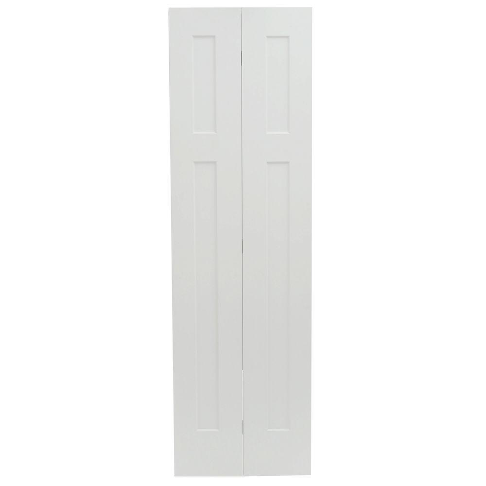 24 in. x 80 in. Craftsman White Painted Smooth Molded Composite