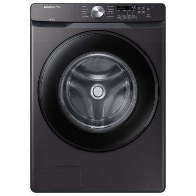 27 in. 4.5 cu. ft. High-Efficiency Black Stainless Front Load Washing Machine with Self-Clean+, ENERGY STAR