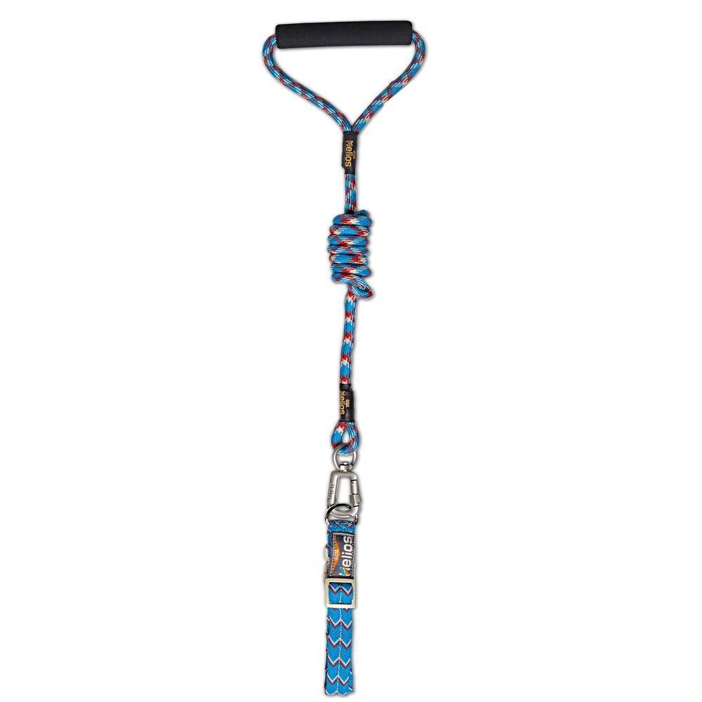 Medium Blue Dura-Tough Easy Tension 3M Reflective Pet Leash and Collar