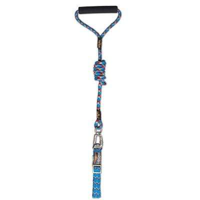 Medium Blue Dura-Tough Easy Tension 3M Reflective Pet Leash and Collar