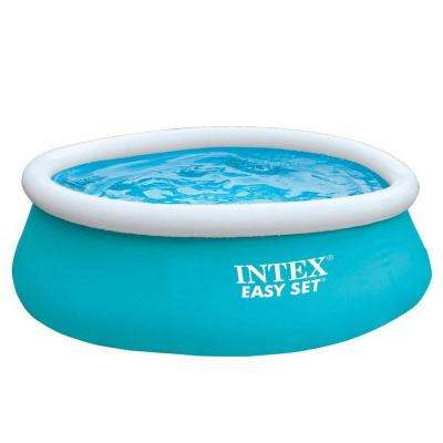 6 ft. x 20 in. Easy Set Inflatable Swimming Pool - Aqua Blue 54402E