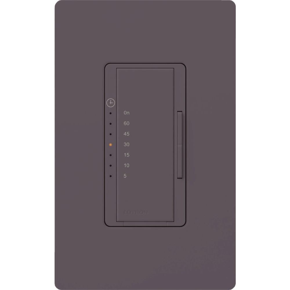Maestro 600-Watt/VA Multi-Location/Single Pole Countdown Timer - Plum