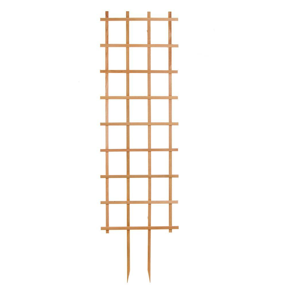 24 in. W x 84 in. H Wood Rectangle Trellis