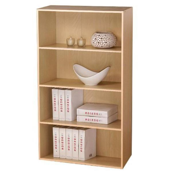 Furinno Pasir 4- Shelf Steam Beach Bookcase with open shelves 11209SBE