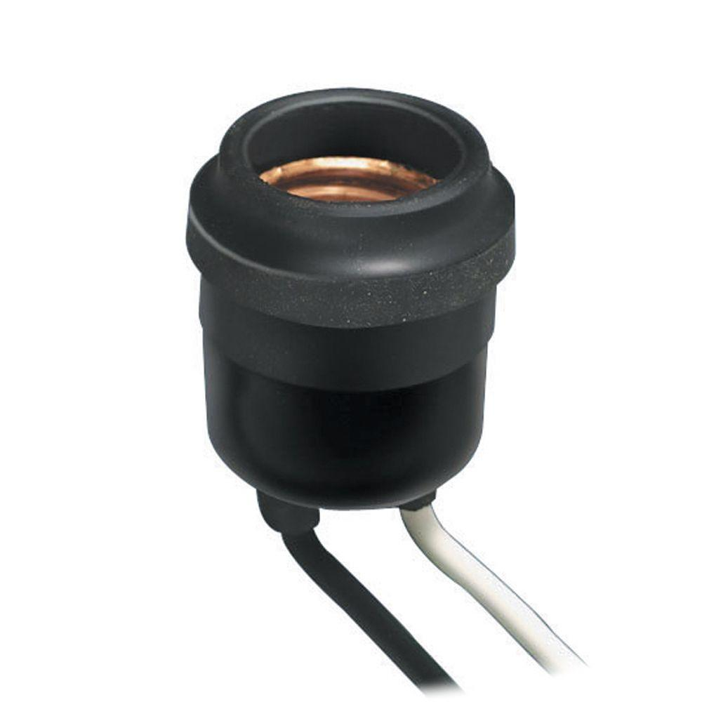 Leviton Weatherproof Socket, Black