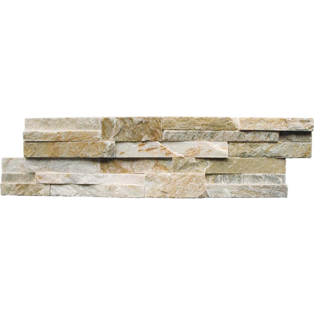MSI Golden Honey Ledger Panel 6 in. x 24 in. Natural Slate Wall Tile (5 cases / 30 sq. ft. / pallet)