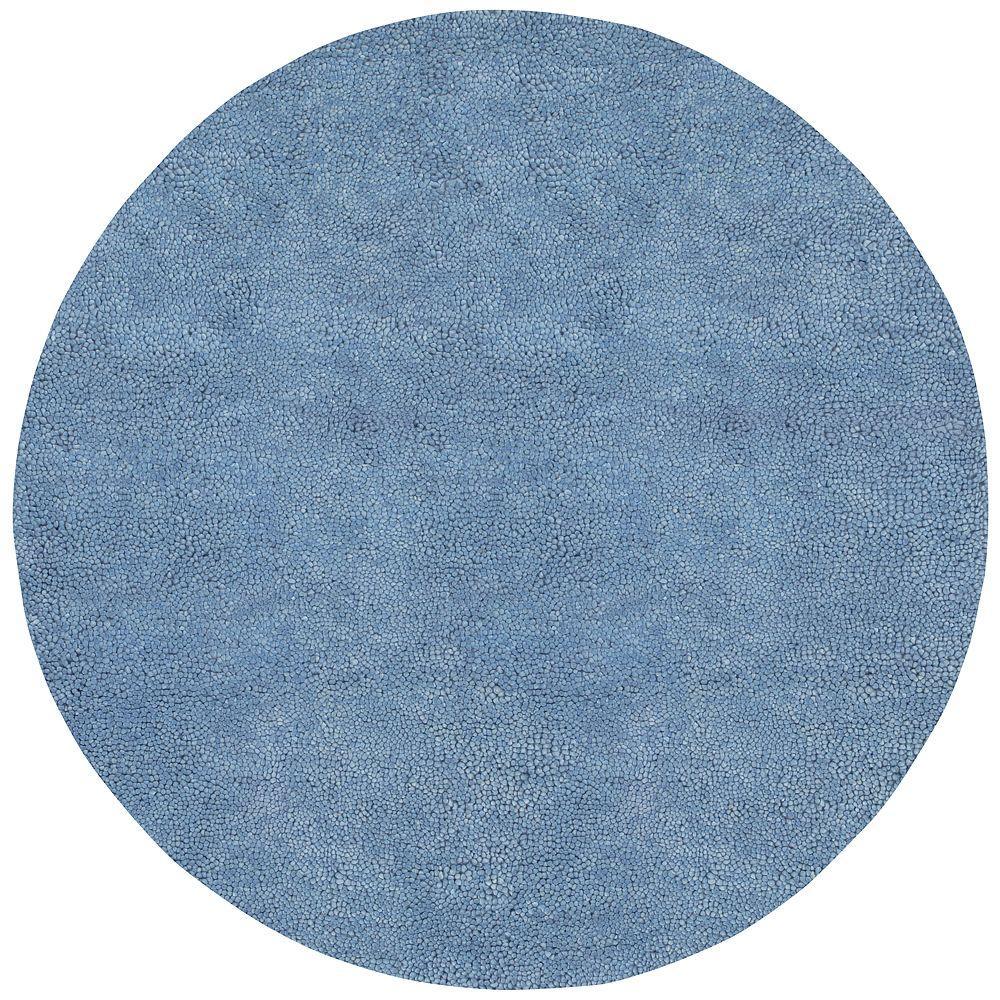 Artistic Weavers Cambridge Sky Blue 8 ft. Round Area Rug