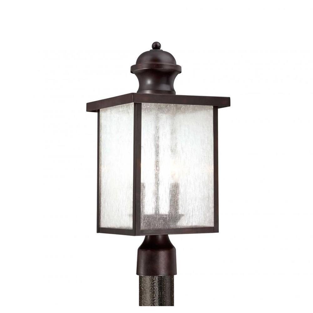 Monti 2-Light English Bronze Outdoor Post Lantern