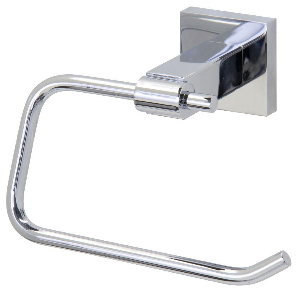 Vigo Allure Square Design Single Post Toilet Paper Holder in Chrome