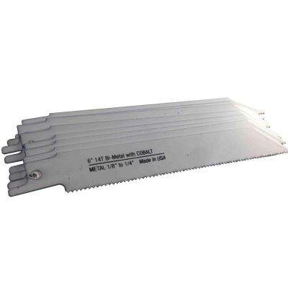 6 in. 14 Teeth per in. Metal Cutting Bi-Metal Reciprocating Saw Blade (10-Pack)