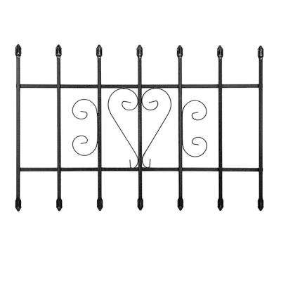 36 in. x 24 in. Su Casa Black 7-Bar Window Guard