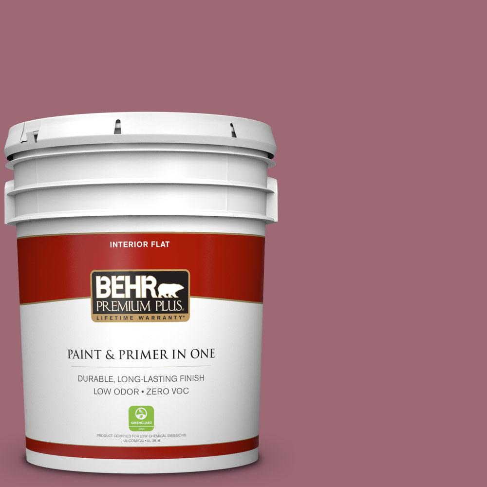 5 gal. #100D-5 Berries and Cream Zero VOC Flat Interior Paint