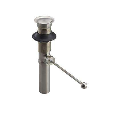 Premier 1-1/2 in. Brass Pop-up Drain without Overflow in Vibrant Brushed Nickel