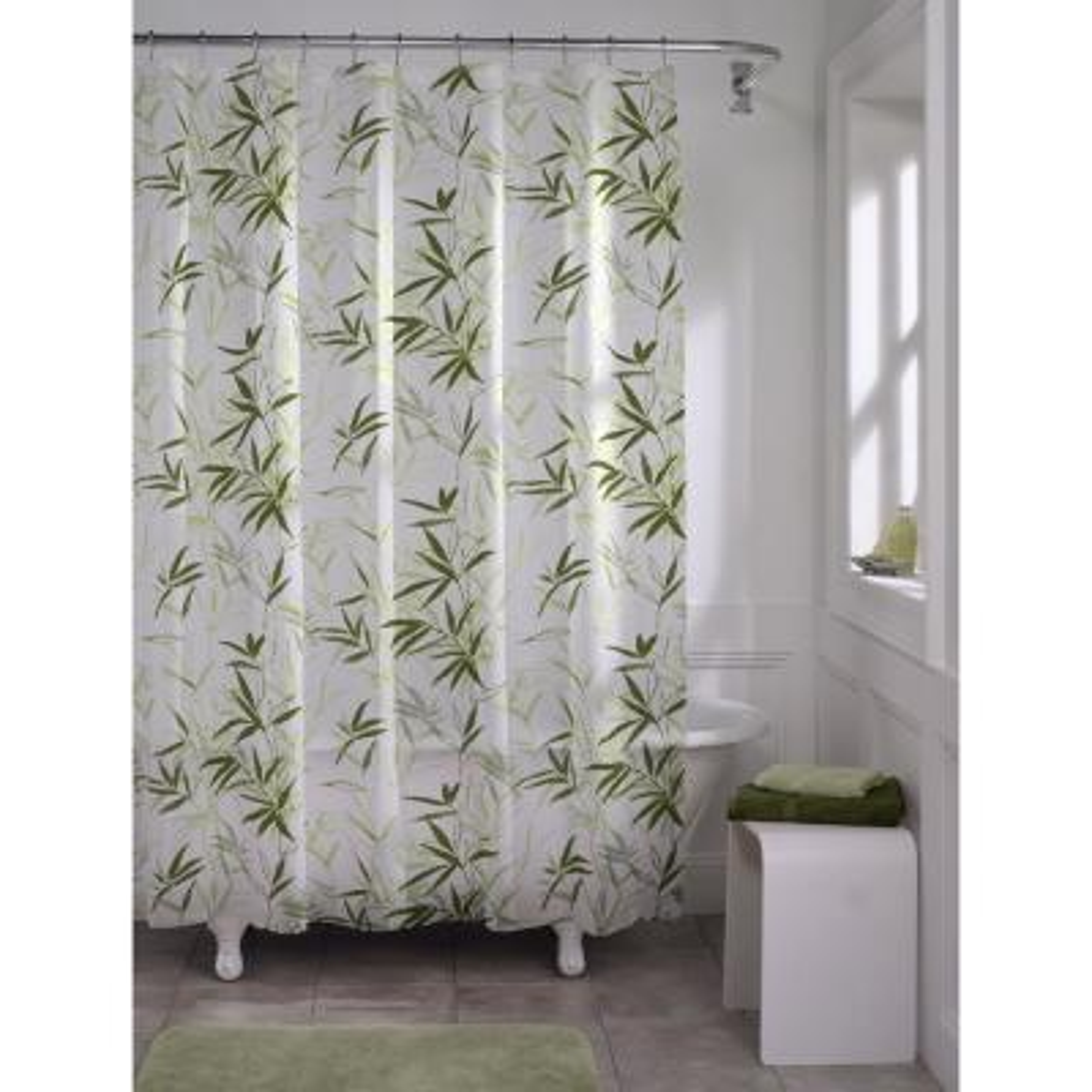 70 in. x 72 in. Zen Garden PEVA Waterproof Shower Curtain