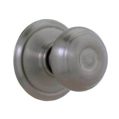 Georgian Antique Pewter Dummy Door Knob - Pewter - Door Knobs - Door Hardware - The Home Depot