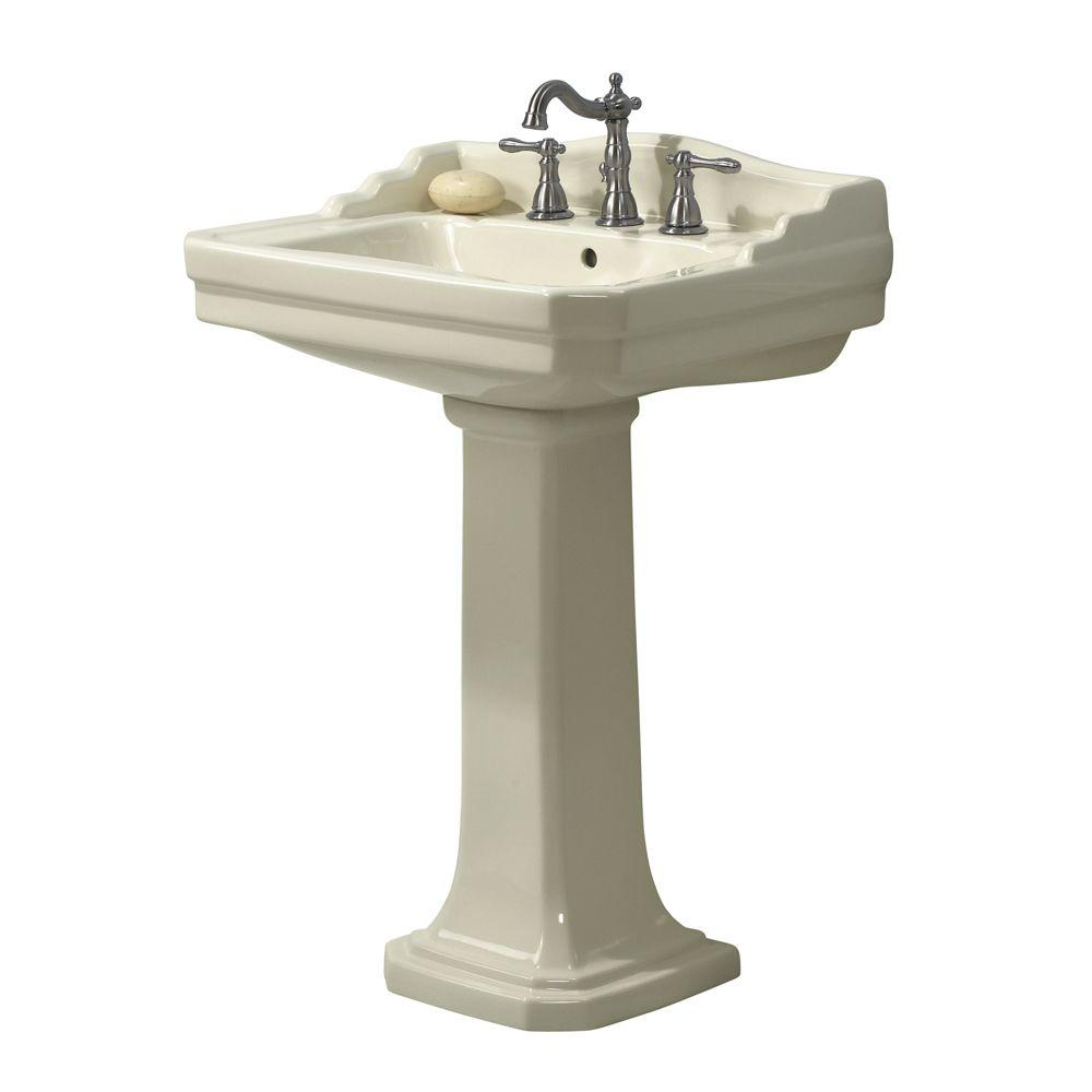 Foremost Series 1930 Lavatory and Pedestal Combo in White-FL-1930 ...