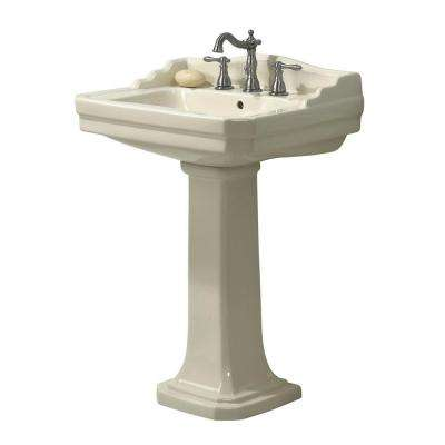 Series 1930 Lavatory and Pedestal Combo in Biscuit
