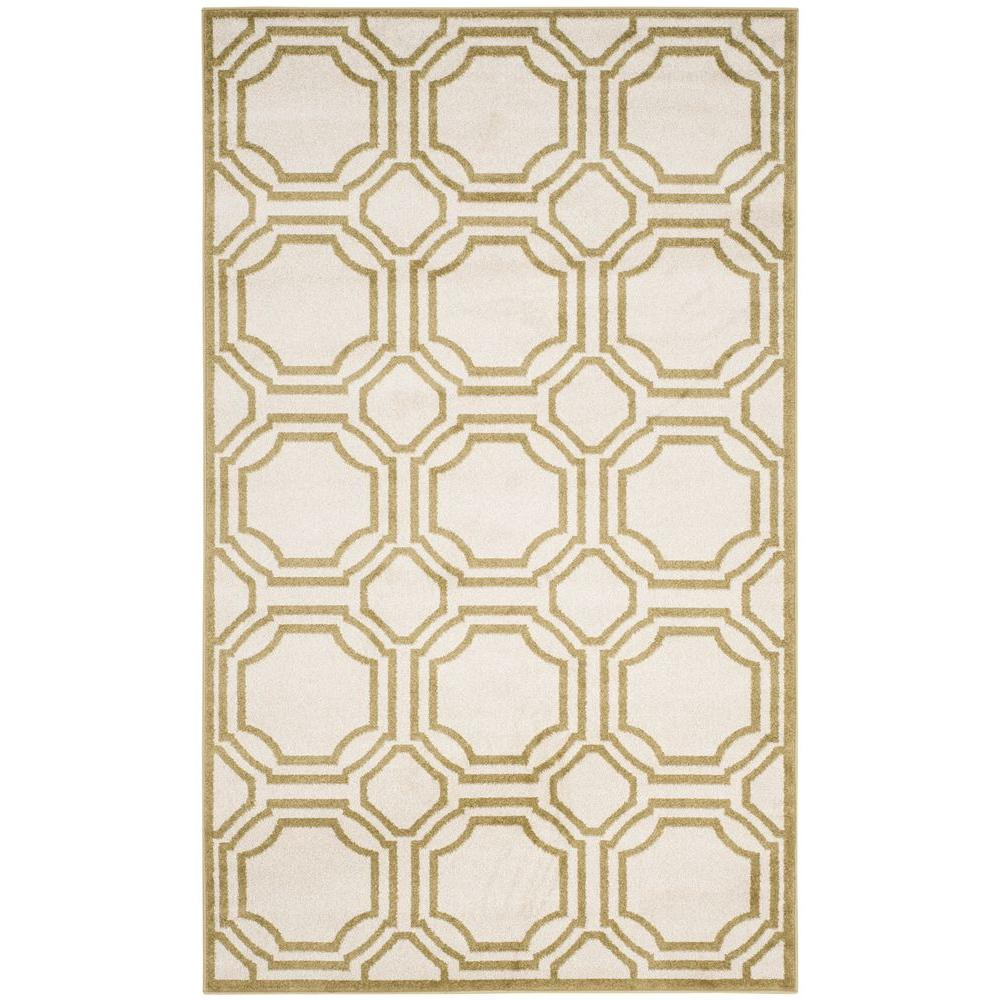 Amherst Ivory/Light Green 4 ft. x 6 ft. Indoor/Outdoor Area Rug