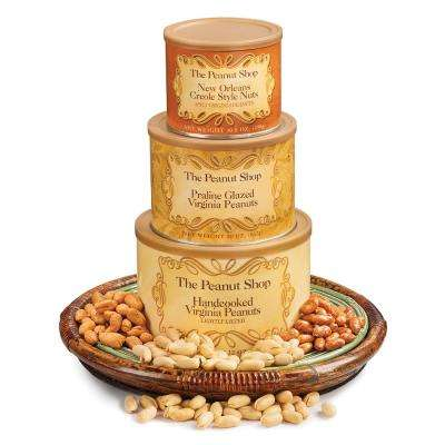 Classic Peanut Tower with New Orleans Spicy Peanuts, Praline Glazed Peanuts and Lightly Salted Peanuts