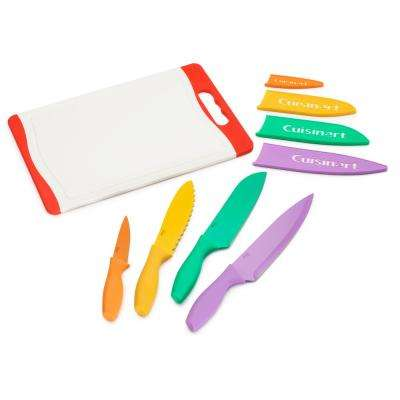 9-Piece Non Stick Color Cutlery Set with Cutting Board