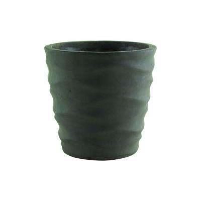 Urban Wave 5-1/4 in. Gray Cement Planter