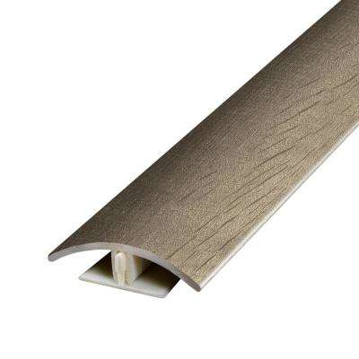 Stony Oak Beige and Grey .37 in. Thick x 1.75 in. Wide x 78.7 in. Length Vinyl 2-in-1 Molding
