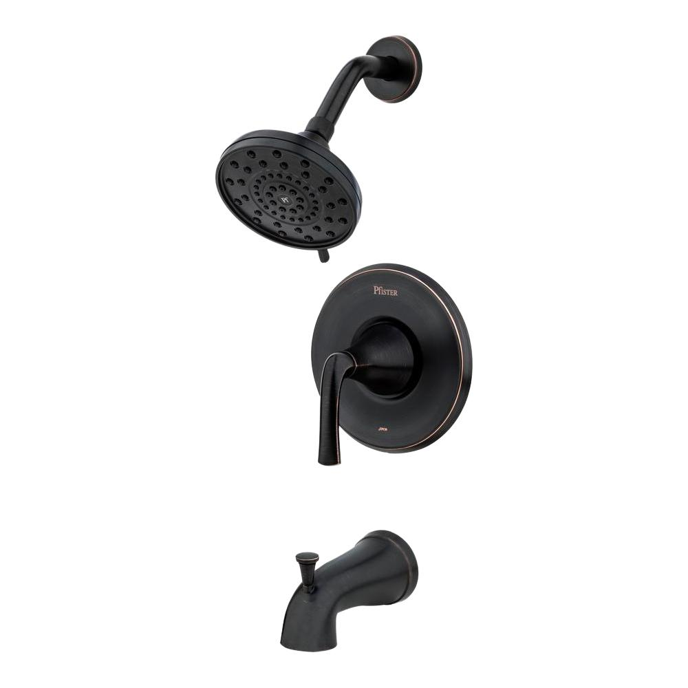 Pfister Ladera Single-Handle 3-Spray Tub and Shower Faucet in Tuscan Bronze (Valve Included)