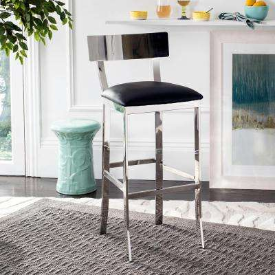 Abby 30.5 in. Stainless Steel Bar Stool in Black