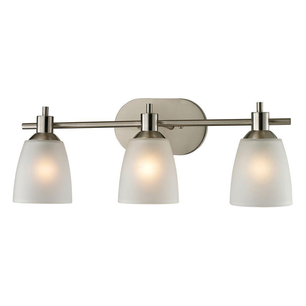 Titan Lighting Jackson 3-Light Brushed Nickel Wall Mount ...