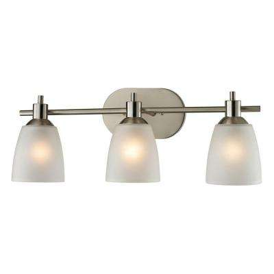 Jackson 3-Light Brushed Nickel Wall Mount Bath Bar Light