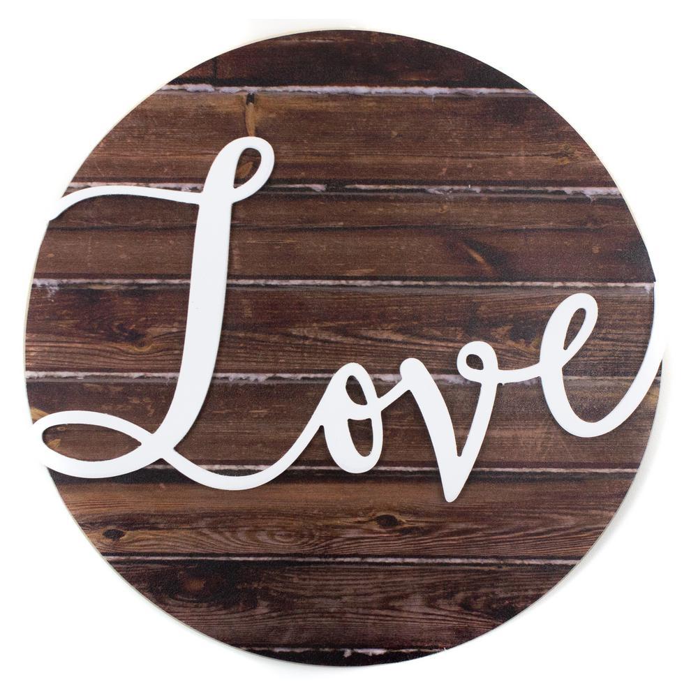 "17 in. W x 16 in. H ""Love"" by JLB Printed Wall Art"