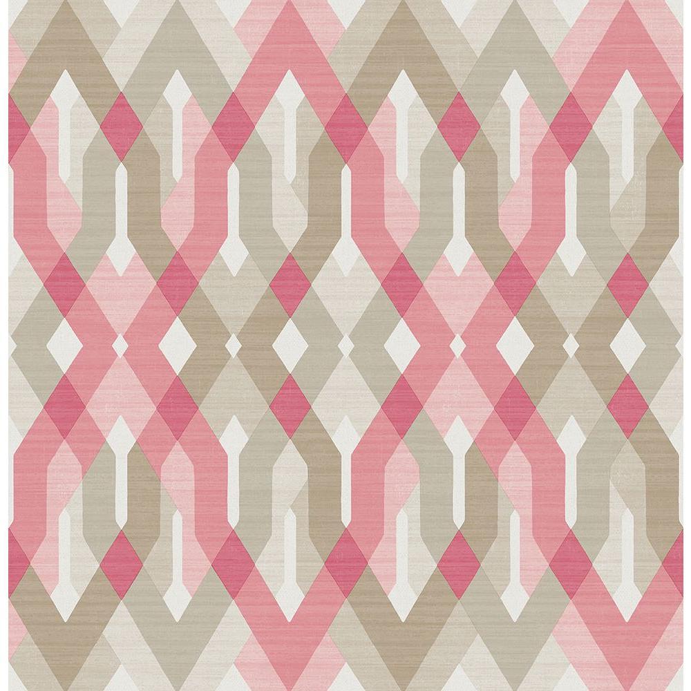 A-Street Harbour Pink Geometric Wallpaper Sample 2656-004041SAM