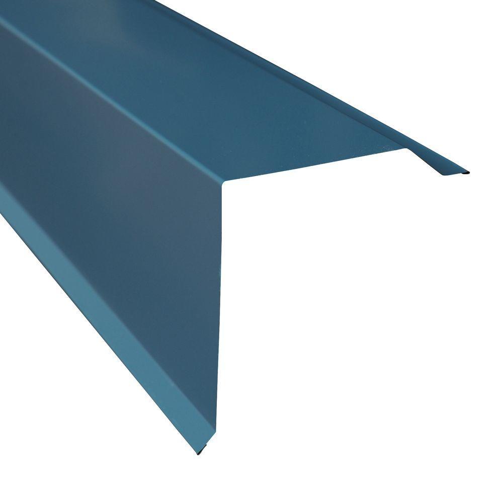 Metal Sales Gable Trim in Ocean Blue4206035 The Home Depot