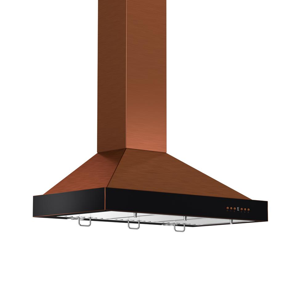 ZLINE Kitchen and Bath 36 in. 760 CFM Convertible Wall Mount Range Hood in Oil-Rubbed Bronze and Copper