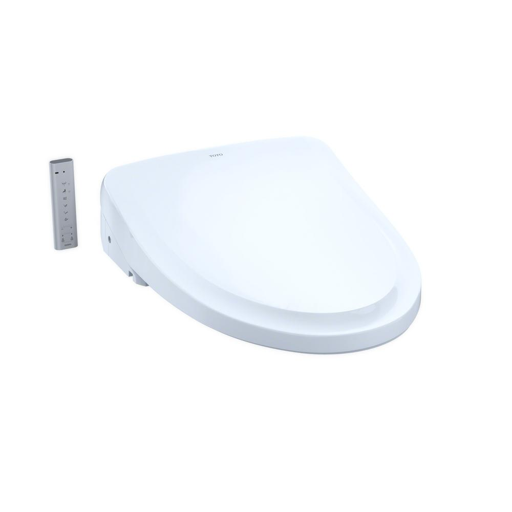 TOTO S500e Electric Bidet Seat for Elongated Toilet with Classic Lid in Cotton White