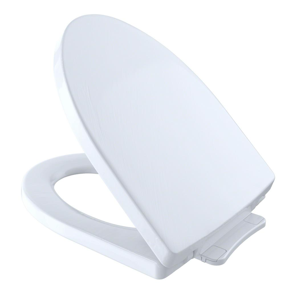 TOTO Soiree SoftClose Elongated Closed Front Toilet Seat in Cotton ...