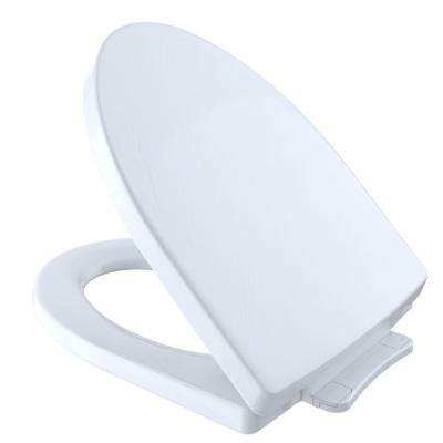 Soiree SoftClose Elongated Closed Front Toilet Seat in Cotton White