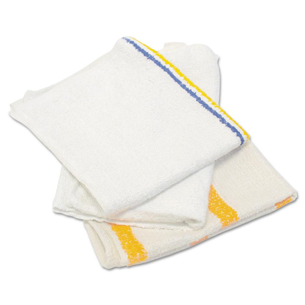 Value Counter Cloth/Bar Mop, White, 25 lbs./Bag
