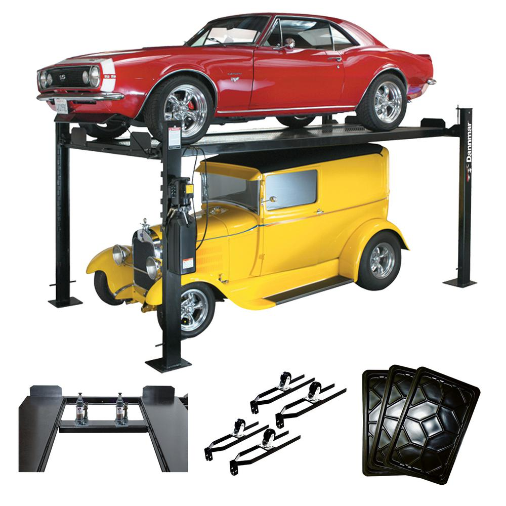 D-7/X Kit 7,000 lb. Extended 4-Post Lift with Accessory Kit