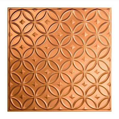 Rings - 2 ft. x 2 ft. Lay-in Ceiling Tile in Polished Copper