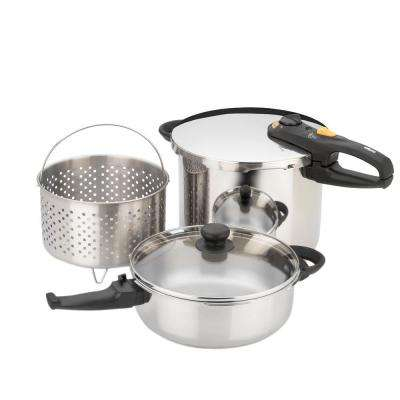Duo Combo 5-Piece Pressure Cooker Set