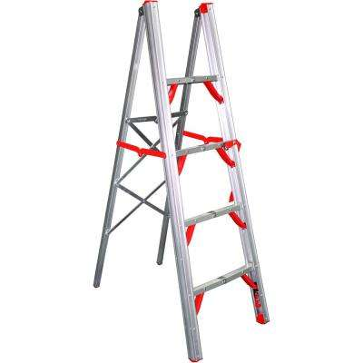 5 ft. OSHA Compliant Single Sided Aluminum Folding Step Straight Ladder