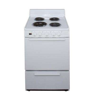 24 in. 2.97 cu. ft. Electric Range in White