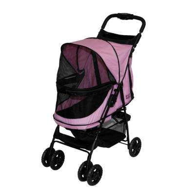 24 in. L x 12 in. W x 22 in. H Happy Trails No-Zip Stroller in Pink Diamond