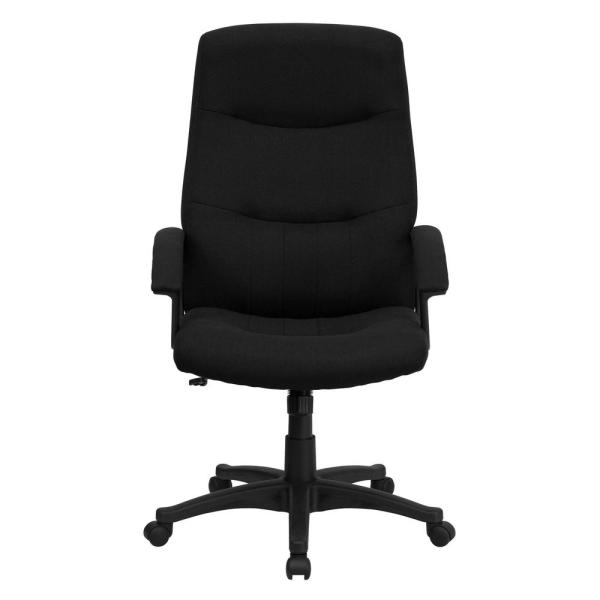Flash Furniture High Back Black Fabric Executive Swivel Office Chair BT134ABK