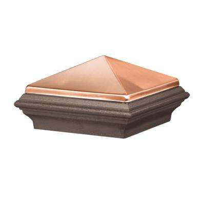 5 in. x 5 in. Bronze Copper Composite Pyramid Post Cap
