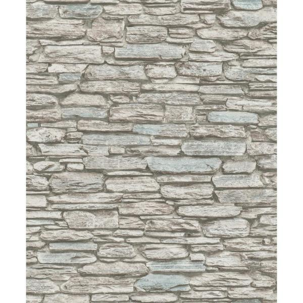 Marburg 8 in. x 10 in. Kamen Brown Stone Wallpaper Sample