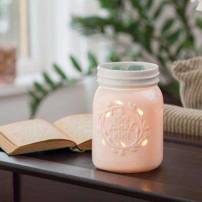 8.8 in. White Mason Jar Illumination Fragrance Warmer