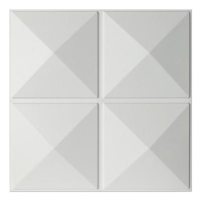 19.7 in. x 19.7 in. x 1 in. White PVC 3D Wall Panels Decorative Wall Design (12-Pieces)