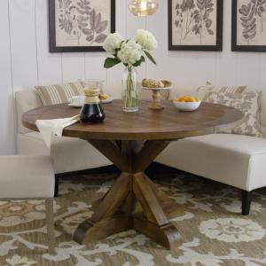 Home Decorators Collection Cane Bark Round Dining Table ...